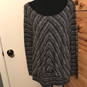 White House black market chevron striped blouse